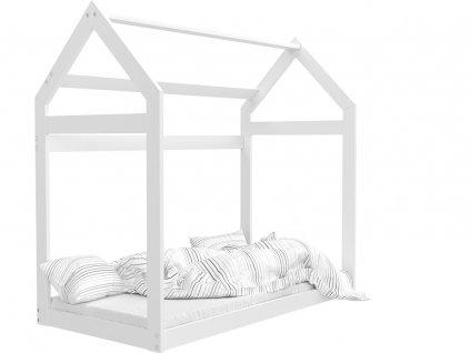Biela detská posteľ domček 184x80