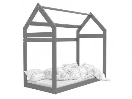 Detská posteľ v tvare Domčeka Sivý 184x80