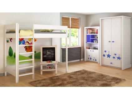 Hugo Pred 160x80 vyvýšená detská posteľ - viac farieb