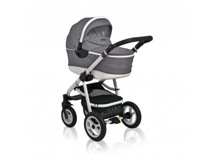 Praktický kombinovaný kočík Aprilia Coto Baby 2v1 - Sivý