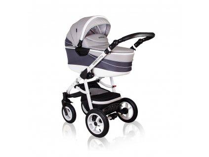 Aprilia Coto Baby 2v1 kočík kombinovaný - PATTERN LIGHT GREY
