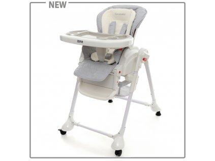Detská jedálenská stolička Coto baby Zefir Sivá