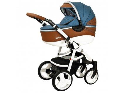 Obľúbený kombinovaný kočík Quara Coto Baby Jeans eco 2v1