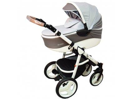 Kombinovaný kočík Quara Coto Baby Grey eco Zygzak