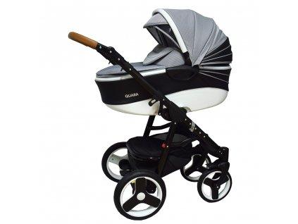 Kombinovaný detský kočík Quara Coto Baby eco Čierno/Biely