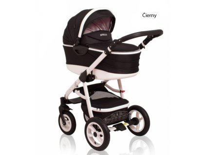Kombinovaný kočík Aprilia Coto Baby 3v1 v čiernom prevedení