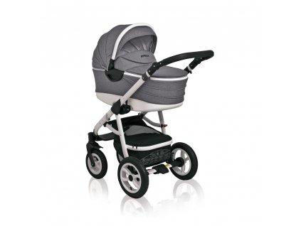 Kombinovaný kočík Aprilia Coto Baby 3v1 - GREY LINEN