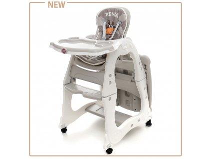 Béžová detská stolička na kŕmenie Coto baby Kenia