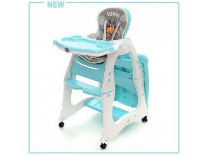 Mentolová detská stolička na kŕmenie Coto baby Kenia