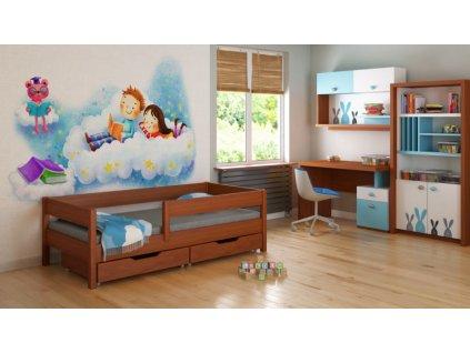 Palisander MIX 200x90 detská posteľ