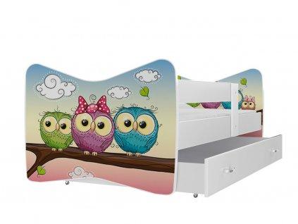 Tomášek 160x80 Sovičky č.59 detská posteľ