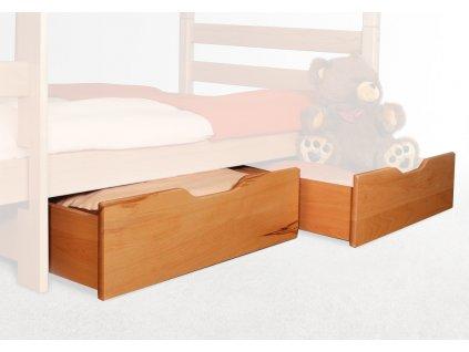 Úložné boxy pre poschodovú posteľ Oliver, Oliver 2 - natural