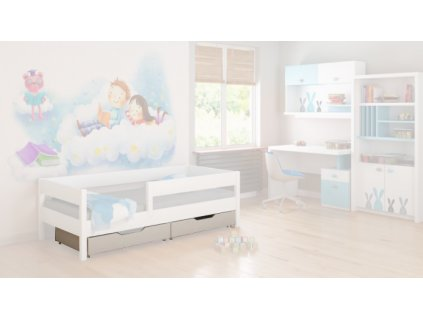 Úložný box biely pre posteľ Mix 200
