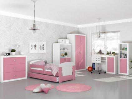 Izby pre deti Filip COLOR 180x80 - ružové