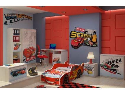 Detská izba Zygzak Mcqueen červená - 160x80 (3 ks)