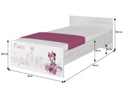 Detská izba Max X Disney Minnie Paris - 180x90 (3 ks)