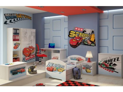 Chlapčenská detská izba Disney Cars Macqueen - 160x80 (3 ks)