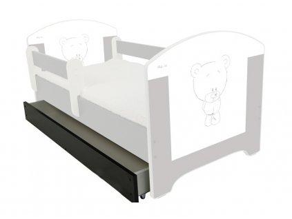 Úložný box pre detskú posteľ Oskar 160 - braz Žirafa