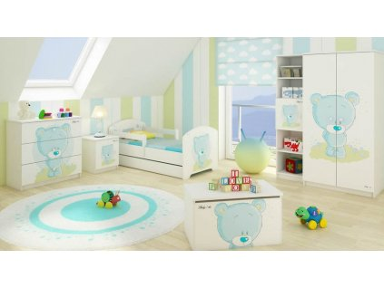 Modrý macík Detské izby 3ks - 160x80