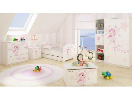 Dievčenská izba Little princess 3ks - 160x80