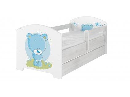 Detská posteľ Oskar X Modrý macík 140x70