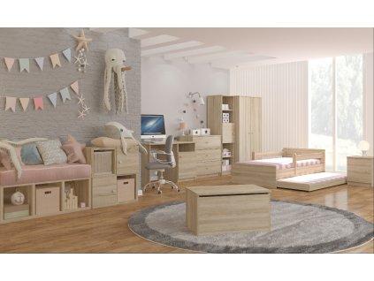 Max 160x80 detská posteľ - nórska borovica