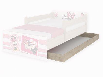 Úložný box pre detskú posteľ Max 160 - dub Začarovaný les a Macko Pu