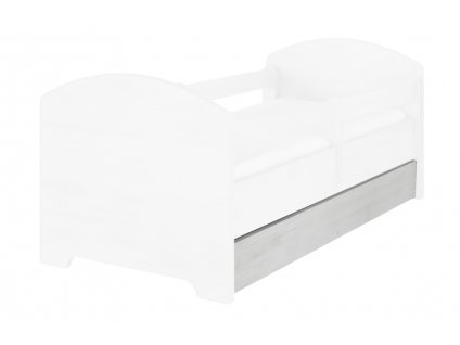 Úložný box pre detskú posteľ Oskar 160 - nórska borovica Macko Pu baby
