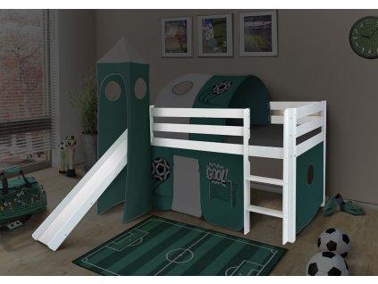 Vyvýšená detská posteľ SORO 90x200 - biela