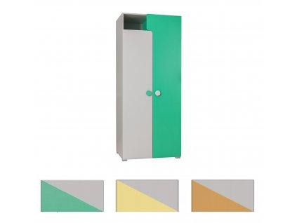 Šatníková skriňa TANIA Y2 - viac farieb