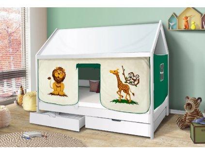 Strieška k detskej posteli domček Martin - biela