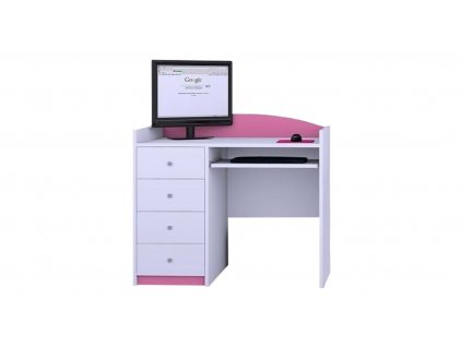 Písací stôl Mery ružový B08 - viac variantov