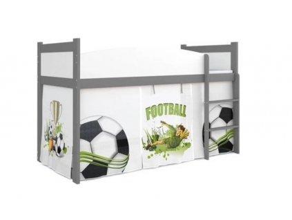 Vyvýšená detská posteľ Swing 184x80 - futbal