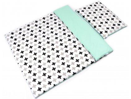 Detské bavlnené obliečky so vzorom (100x135+40x60)