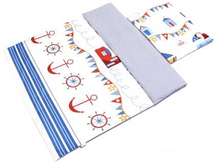 Detské bavlnené obliečky (100x135+40x60) - námorník