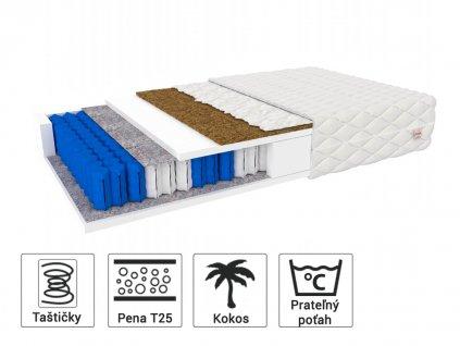 Detský matrac s kokosom HUNT 140x70