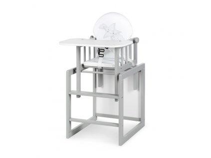 Klups stolička na kŕmenie Aga III sivá
