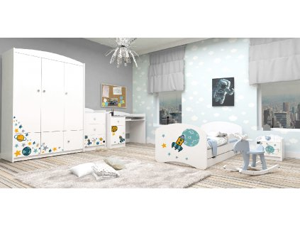 Detská izba VENI Special Edition RAKETA - biela (160x80)