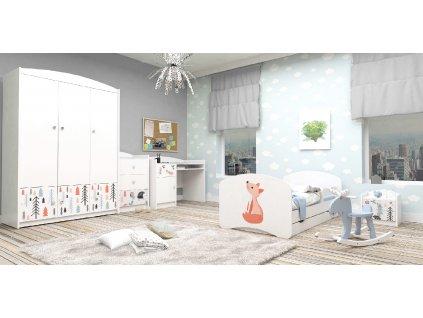 Detská izba VENI Special Edition LÍŠKA - biela (160x80)