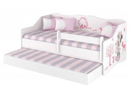 Detská posteľ Lulu Minnie s prístelkou - 160x80 cm