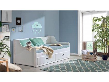 Detská výsuvná posteľ Mosko 200x80