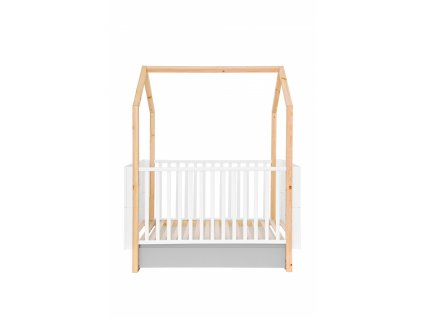 Detská postieľka domček Pineto 140x70 s úložným priestorom