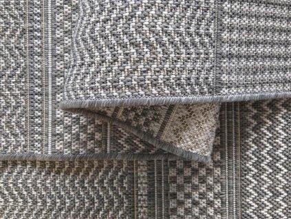 Obojstranný tkaný koberec Harper 02 Grey