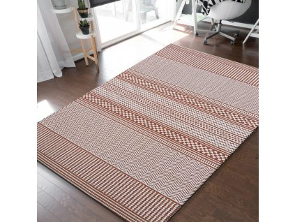 Obojstranný tkaný koberec Harper 02 Terra