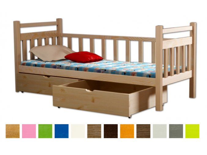 Detské postele Lpo 003 200x90 s úl. priestorom