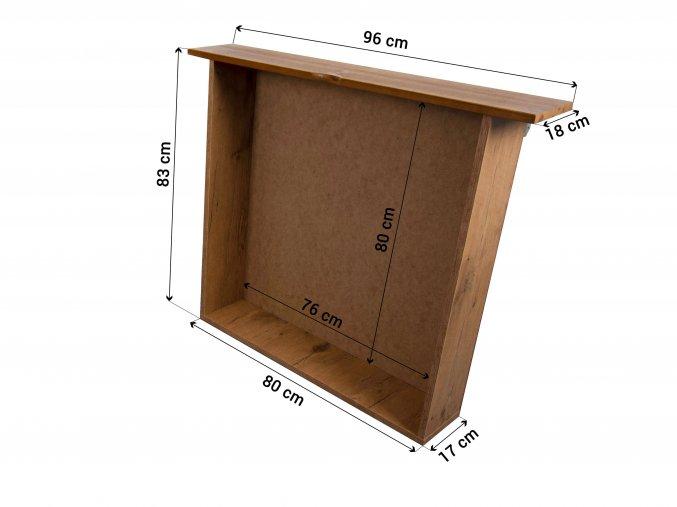 Detská posteľ so zábranou Lpo 005 200x90 s úl. priestorom