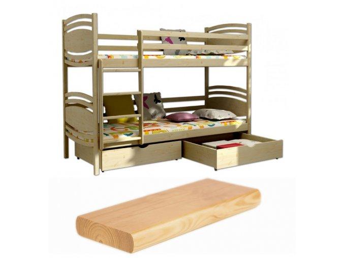 Poschodová posteľ Lp 001 200x90