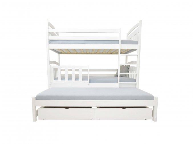 LPT 001 200x90 Poschodová posteľ s prístelkou