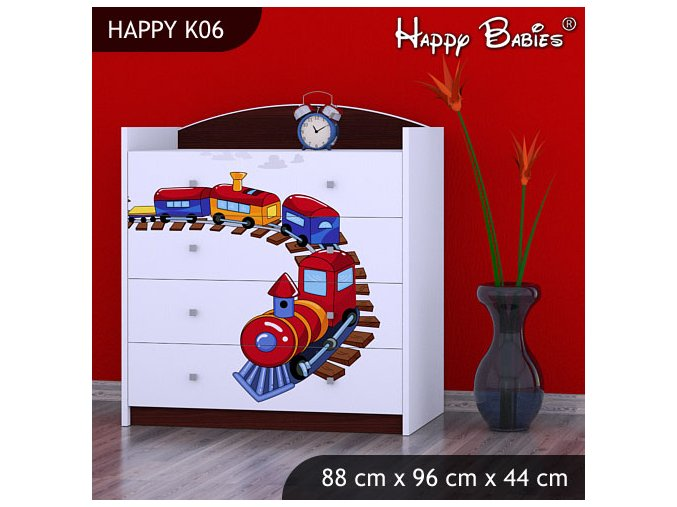 Komoda Happy Gaštan K06