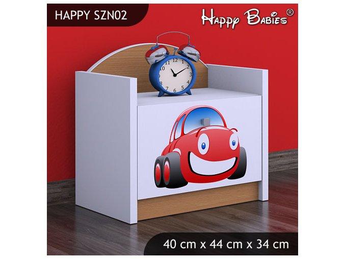 Nočný stolík Happy Buk SZNO 02 všetky motívy